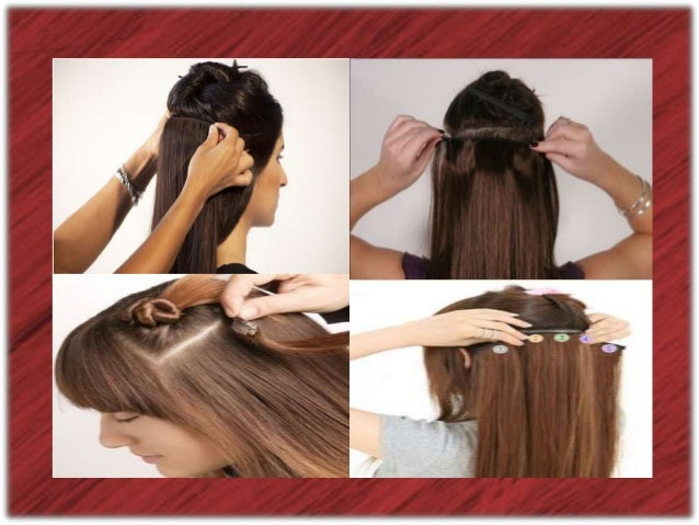 How do you put in brown hair extensions?
