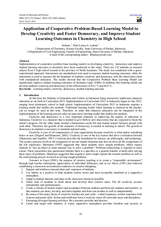 Journal of Education and Practice ISSN 2222-1735 (Paper) ISSN 2222-288X (Online) Vol.4, No.25, 2013  www.iiste.org  Applic...