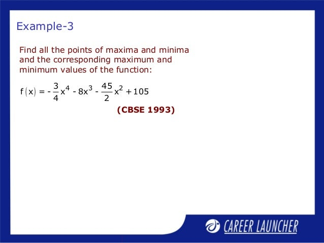 how to find maxima and minima