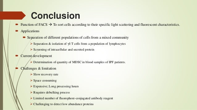 Application of Fluorescence Activated-Cell Sorting (FACS) in
