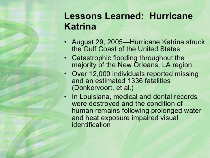 lessons learned from katrina