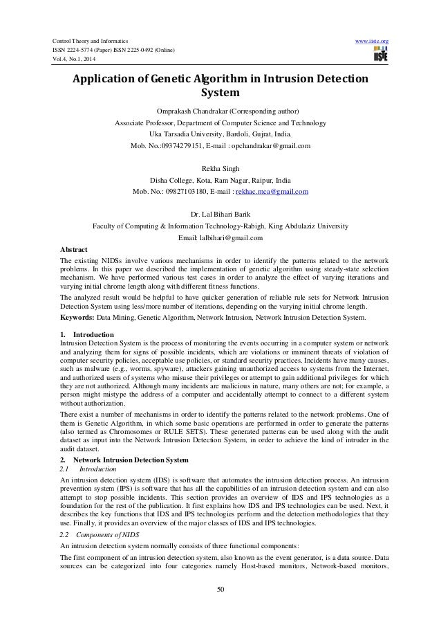 Control Theory and Informatics ISSN 2224-5774 (Paper) ISSN 2225-0492 (Online) Vol.4, No.1, 2014  www.iiste.org  Applicatio...
