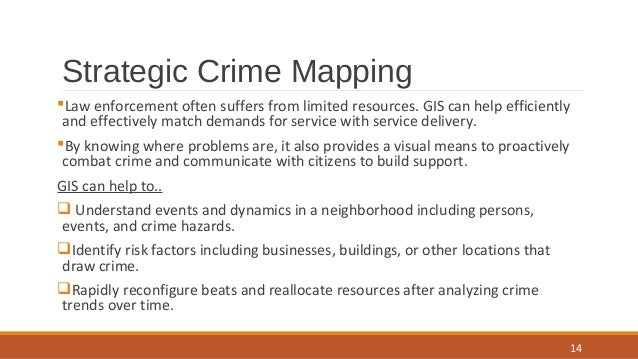 the theory of crime mapping to help identifying and capturing criminals