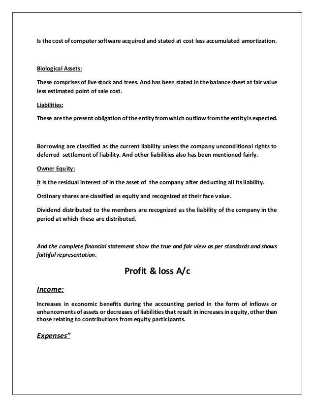 application of ias 1  u0026 ias 2 financial reporting system