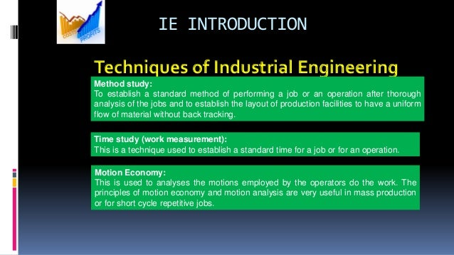 Techniques of Industrial Engineering Method study: To establish a standard method of performing a job or an operation afte...