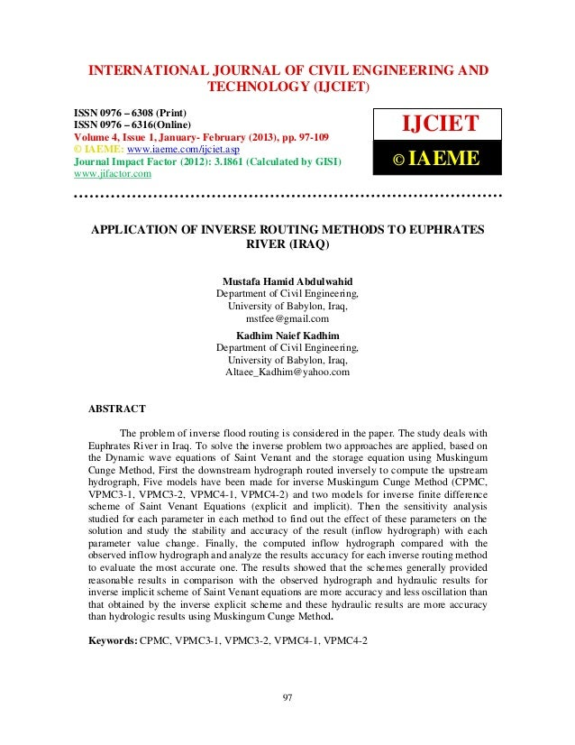International Journal of Civil Engineering and TechnologyENGINEERING – 6308  INTERNATIONAL JOURNAL OF CIVIL (IJCIET), ISSN...