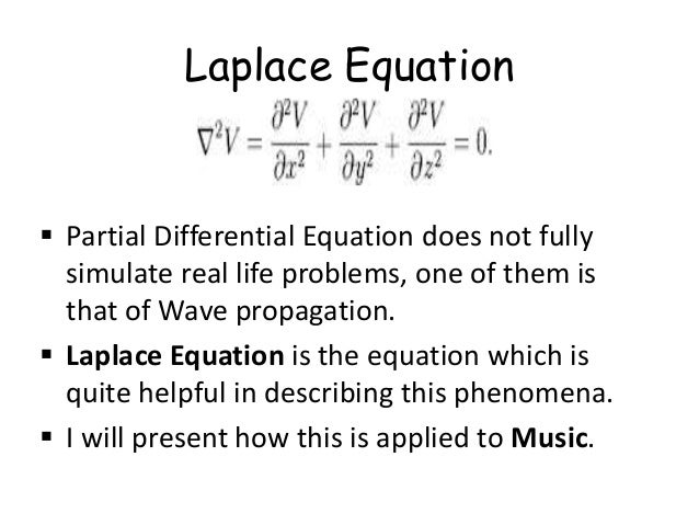 Application of laplace wave equation in music