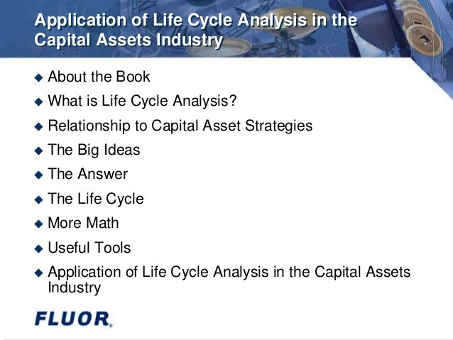 application of life cycle assessment in 13 22 relation to different applications of life cycle assessment 15 3 procedure  for determining the object of study, the functional unit and the reference flows.