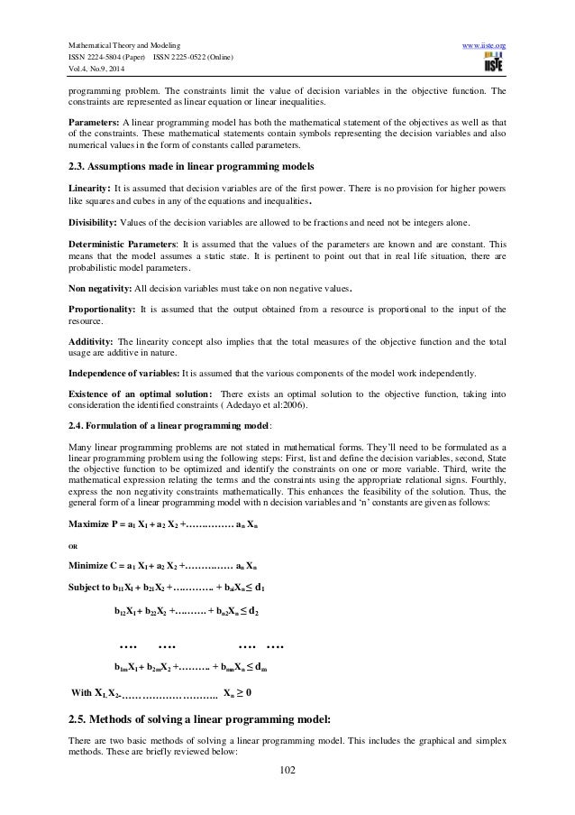 application of integer linear programing Ampl, one can easily change a linear programming problem into an integer program  this can be much more di cult in integer programming because there are.