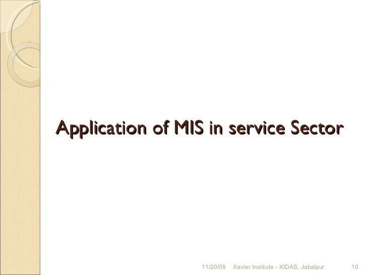 What are MIS reports and how do you prepare it?