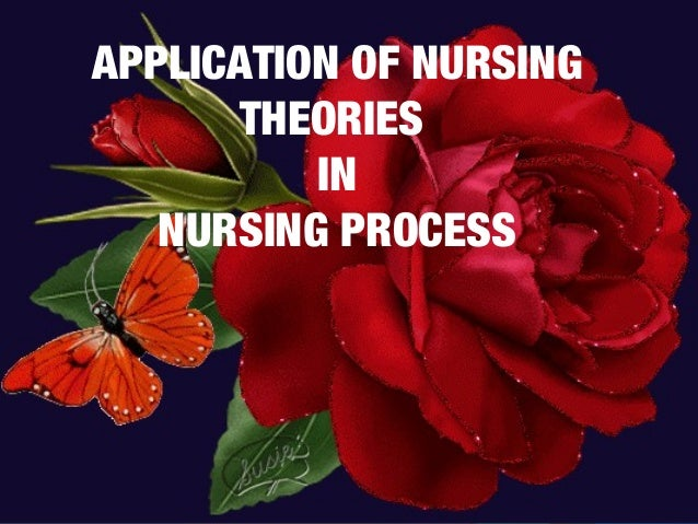 APPLICATION OF NURSINGTHEORIESINNURSING PROCESS