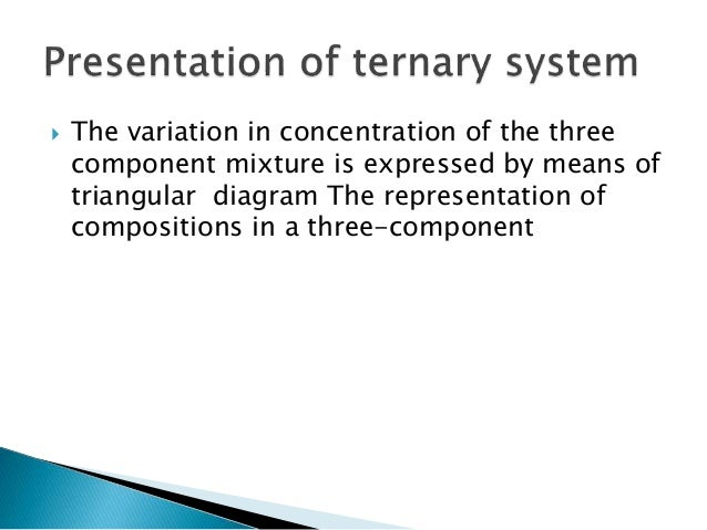 Application Of Phase Rule To Three Component System