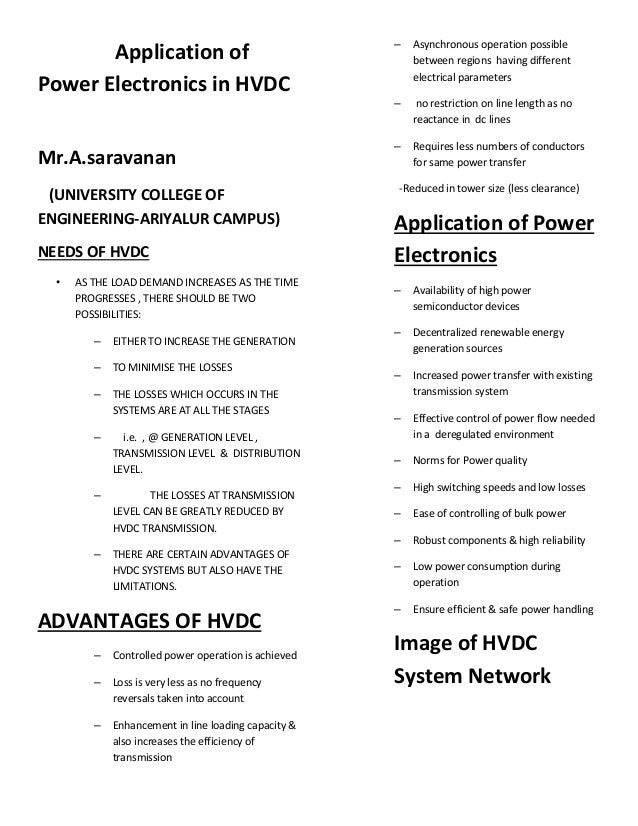 Application of power electronics in hvdc copy