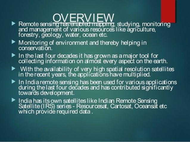 Application of remote sensing Slide 2