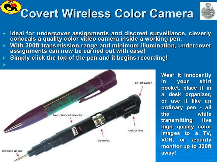 Covert Wireless Color Camera  <ul><li>Ideal for undercover assignments and discreet surveillance, cleverly conceals a qual...