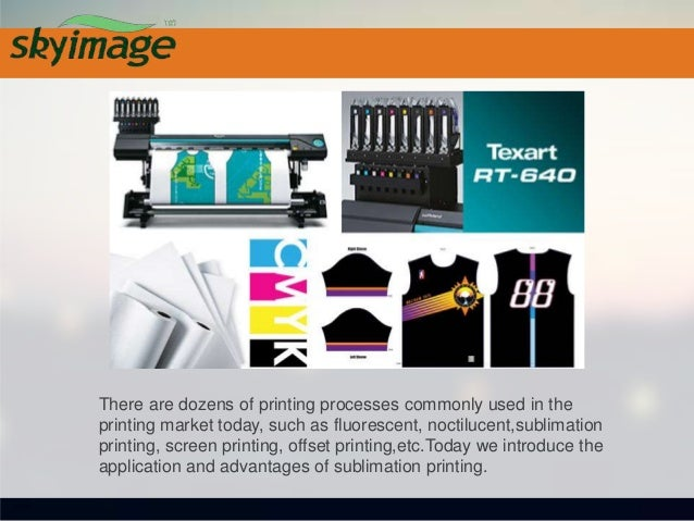 Application of sublimation printing Compared with screen printing