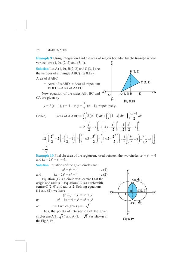 application of integral calculus pdf