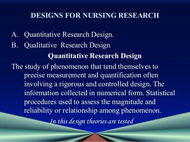 nursing 6052 qualitative research An overview of research designs relevant to nursing: part 1: quantitative research designs for nursing research development, brazil, cnpq researcher 1a, e-mail: classified as either quantitative or qualitative however, it is becoming more common for investigators to combine.