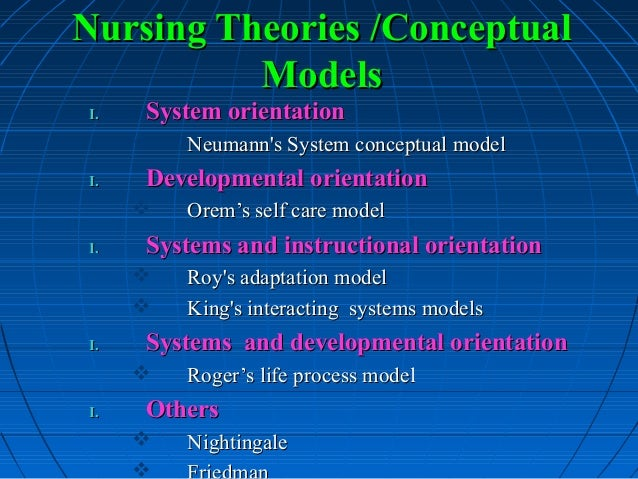 nursing theory models examples