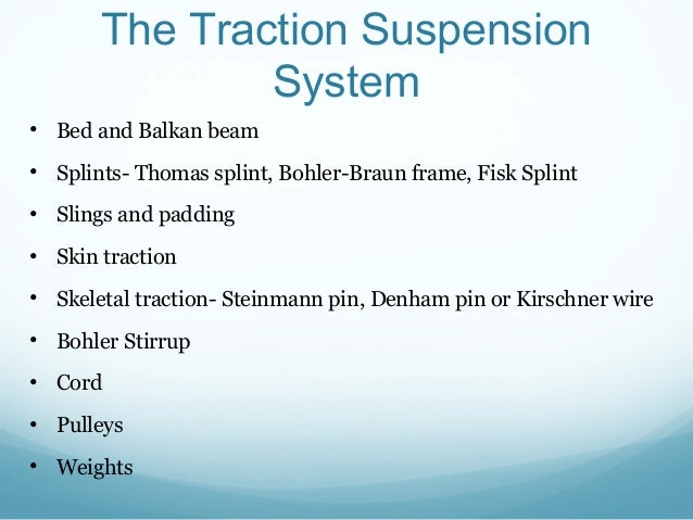 What is balanced suspension traction?