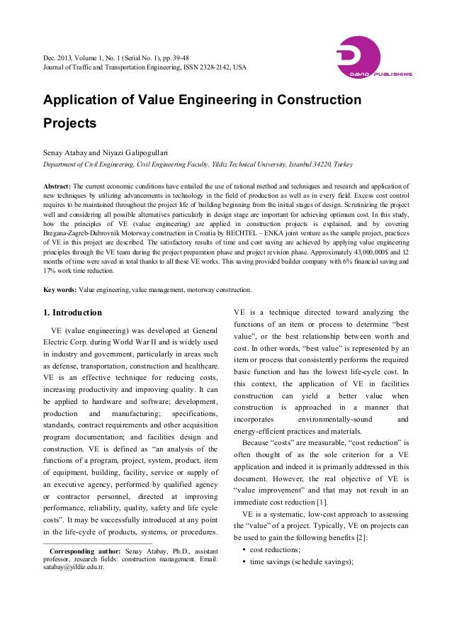 cost control of construction projects through