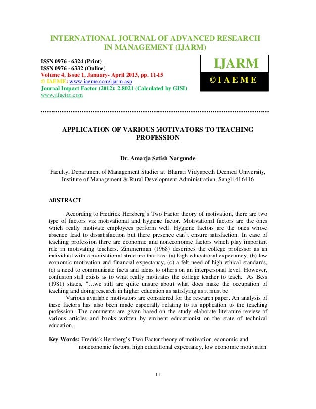 International Journal of Advanced Research OF ADVANCED RESEARCH    INTERNATIONAL JOURNAL in Management (IJARM), ISSN 0976 ...