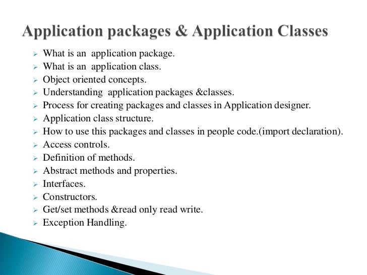 Application package Slide 2