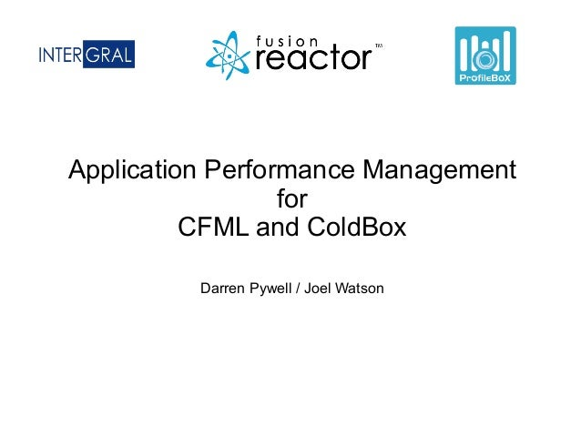 Application Performance Management for CFML and ColdBox