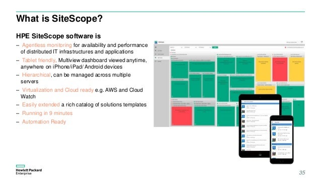 Application performance management hpe whats new for Sitescope templates