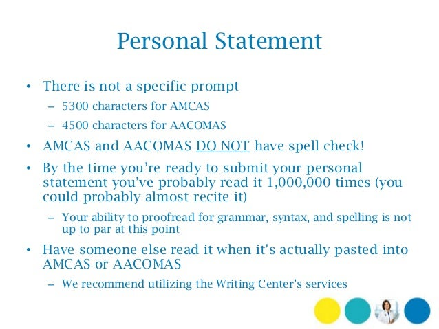 tips for writing amcas personal statement Follow these tips to make your amcas personal statement the best picture of yourself to present to med school admissions committees.