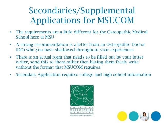 msucom secondary essay Please post all questions or information related to secondary applications here for information on secondary application fees, letters of.