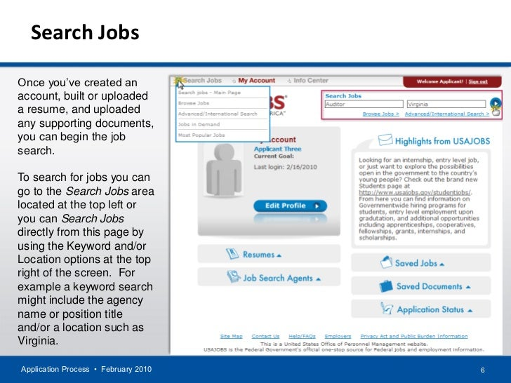 Application Process For Usajobs