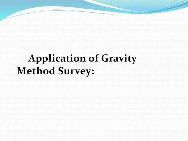 application of gravity survey in mineral exploration