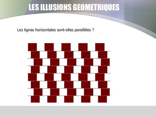 LES ILLUSIONS GEOMETRIQUES Les lignes horizontales sont-elles parallèles ?