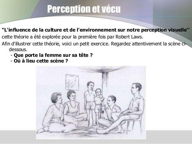 """Perception et vécu """"L'influence de la culture et de l'environnement sur notre perception visuelle'' cette théorie a été ex..."""