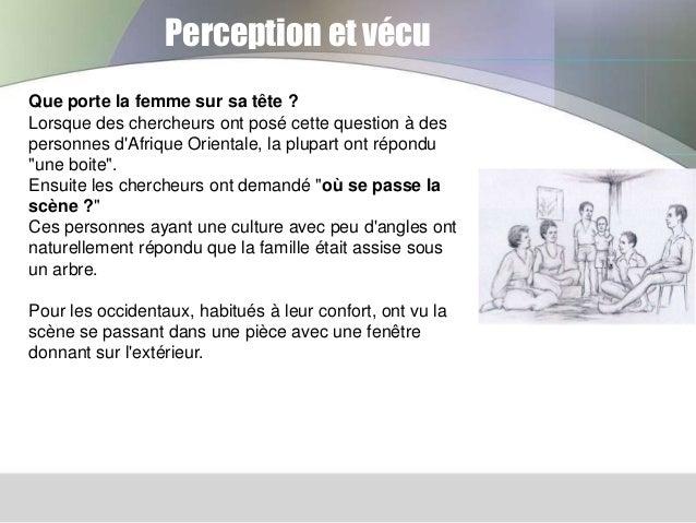 Perception et vécu Que porte la femme sur sa tête ? Lorsque des chercheurs ont posé cette question à des personnes d'Afriq...