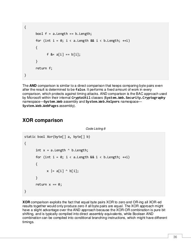 37 Double-HMAC comparison The AND and XOR approaches force you to make certain assumptions about potential timing variabil...