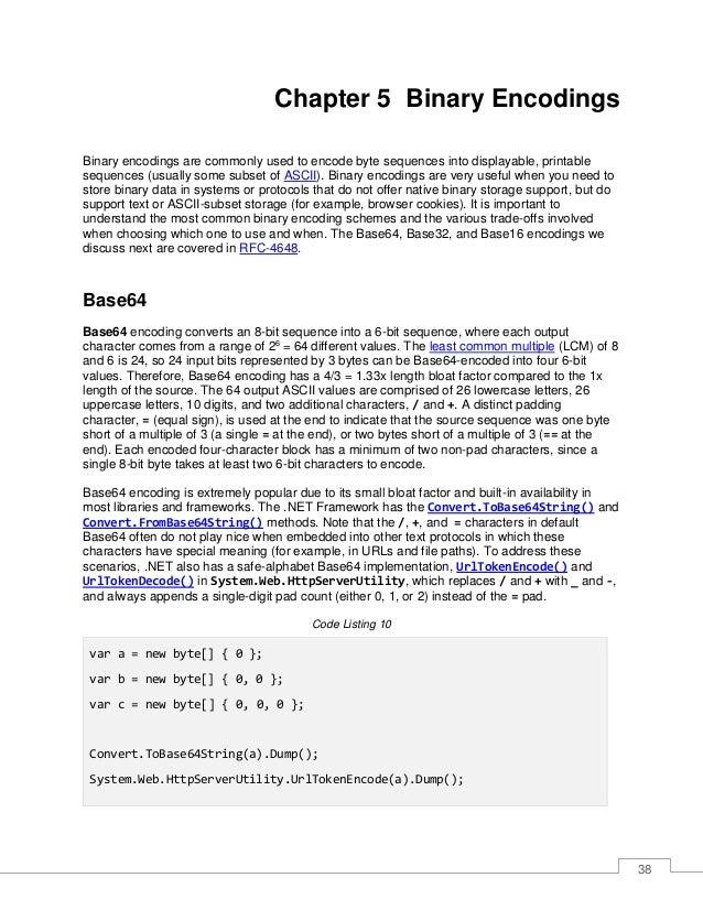 39 Convert.ToBase64String(b).Dump(); System.Web.HttpServerUtility.UrlTokenEncode(b).Dump(); Convert.ToBase64String(c).Dump...