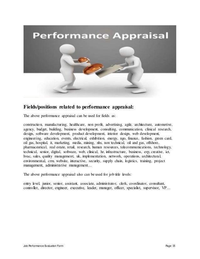 Applications engineer performance appraisal