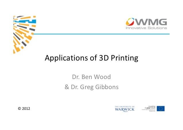 Applications of 3d printing pi 3d application