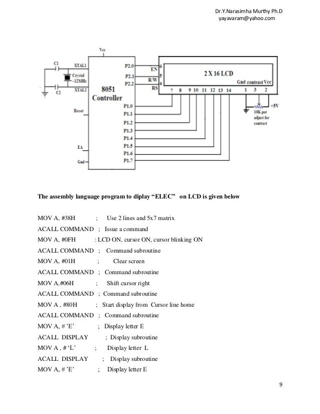 Applications of 8051 microcontrollers