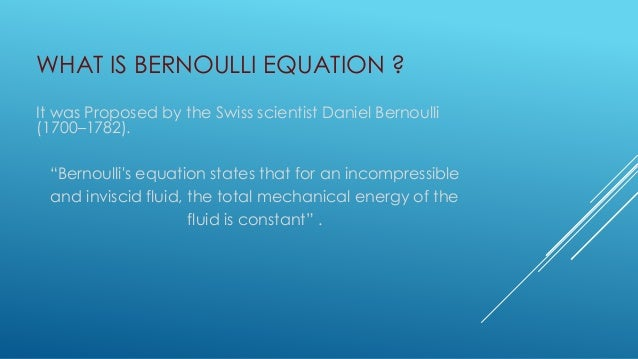 applications of bernoulli equation. Black Bedroom Furniture Sets. Home Design Ideas