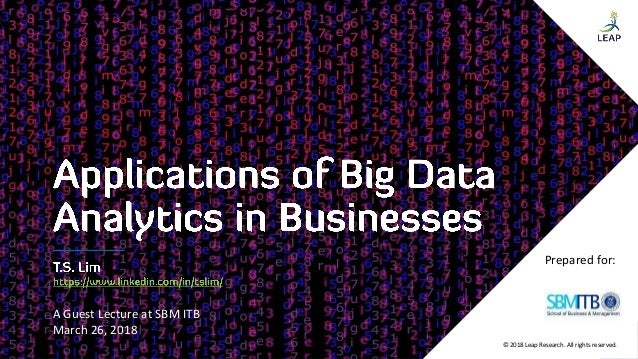 Applications of Big Data ytics in Businesses on