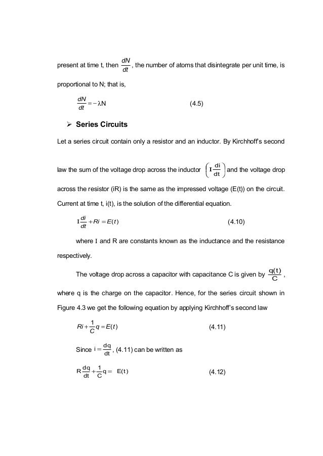 Carbon dating differential equation 5