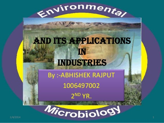 And Its Applications In Industries By :-ABHISHEK RAJPUT 1006497002 2ND YR. 1/4/2014  1