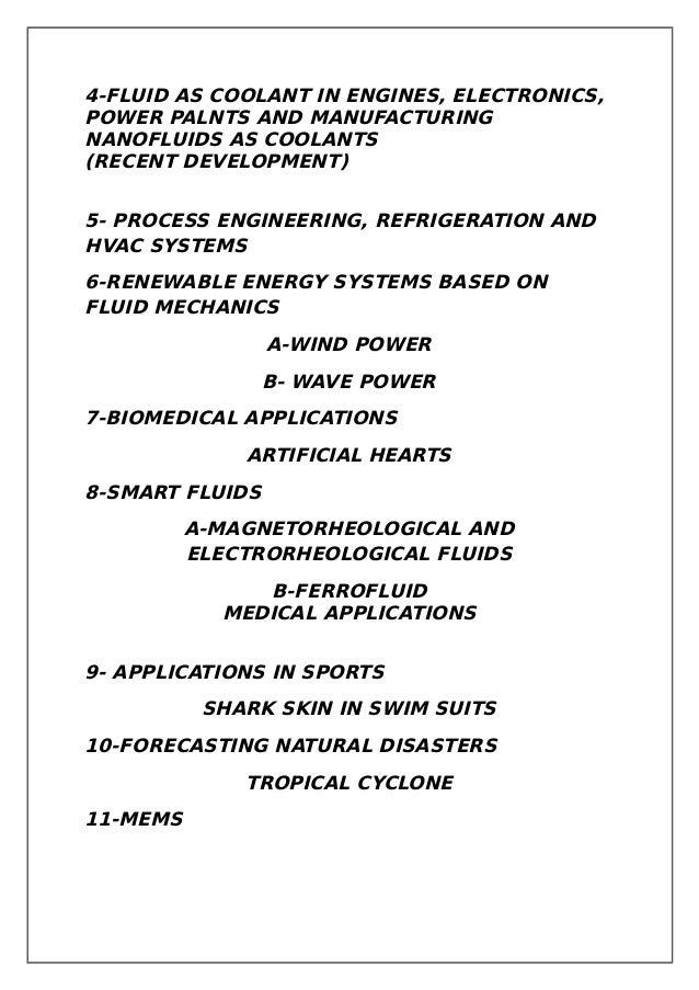 Applications of fluid mechanics Slide 3
