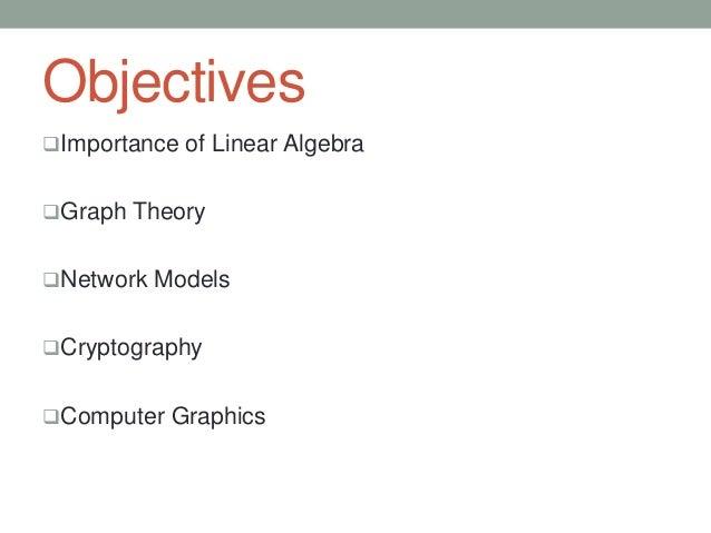 Applications of Linear Algebra in Computer Sciences Slide 2
