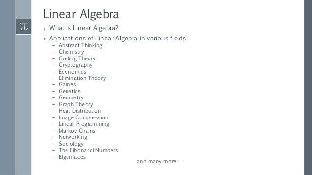Applications of linear algebra Slide 2