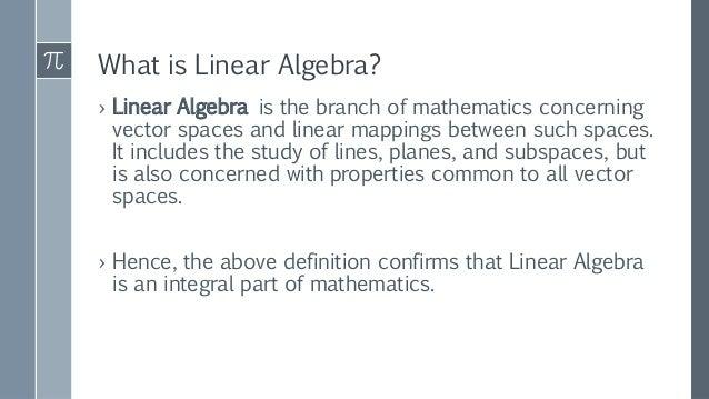Applications of linear algebra Slide 3