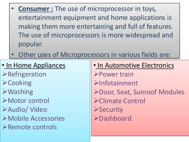 History of microprocessor ppt.